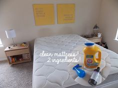 mattress stain remover cup of hot water cup of hydrogen peroxide 1 tablespoon of arm u0026 hammer plus oxiclean laundry detergent