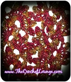 Vintage Lotus Flower Lace Scarf | AllFreeCrochet.com