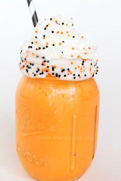 Spooky Vanilla Shake Recipe! So fun and festive for Halloween.