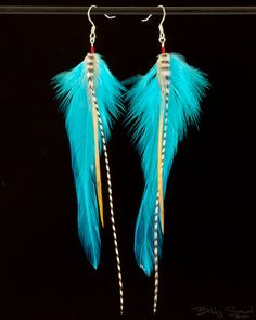 Items similar to Hand Tied Feather Earrings on Etsy Feather Jewelry, Feather Earrings, Bead Earrings, Boho Jewelry, Beaded Jewelry, Jewelery, Jewelry Design, Feather Crafts, Feather Art