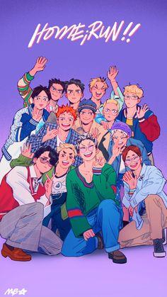 "meelo 🌞 @ taking it slow on Twitter: ""svt!hq drawover with msby+adlers+ejp+frogs 🥰💜✨… "" Haikyuu Manga, Manga Anime, Haikyuu Karasuno, Haikyuu Funny, Haikyuu Fanart, Fanarts Anime, Anime Characters, Kagehina, Haikyuu Wallpaper"