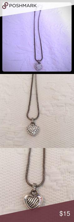Brighton Necklace Brighton Necklace. Silver. Reversible heart. Brighton Jewelry Necklaces