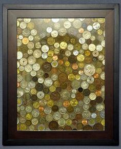 Vieilles pièces de monnaie et/ou souvenirs de voyage (source Pinterest)