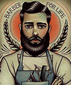 old school tattoo beard - Google Search