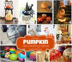 Unique Pumpkin Decorating Ideas - momsbyheart.net