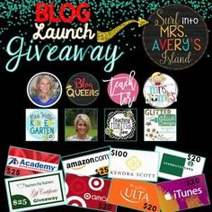 BLOG LAUNCH GIVEAWAY!*********************************Hey, TpT Followers and TpT authors!  I invite you to come take advantage of my HUGE Blog Launch Giveaway!  *********************************I am so blessed to have such an AWESOME Blog Launching Squad to help me spread the word about my brand new blog and branding!