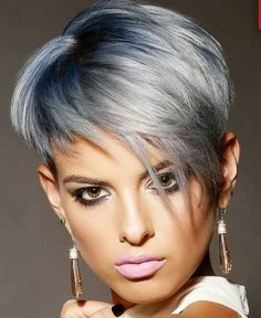 Really Trendy Asymmetrical Pixie Cut Choppy Pixie Cut, Asymmetrical Pixie Cuts, Edgy Pixie Cuts, Short Pixie, Messy Pixie, Shaggy Pixie, Asymmetrical Hairstyles, Short Wigs, Pixie Hairstyles