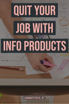 Quit Your Job With Info Products - Earn Money Earn Money Fast, Earn Money Online, Online Jobs, How To Make Money, Earning Money, Affiliate Marketing Jobs, Online Marketing, Internet Marketing, Work From Home Business