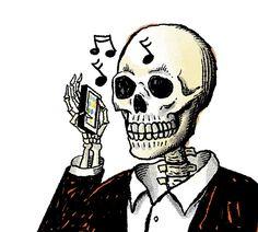 Article on Hold Music. Illustration by Robert Neubecker.