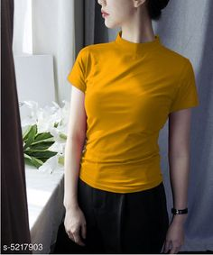Tshirts Trendy  Stylish Women's T Shirts Fabric: Cotton Sleeve Length: Short Sleeves Pattern: Solid Multipack: 1 Sizes: S (Bust Size: 36 in Length Size: 25 in) XL (Bust Size: 42 in Length Size: 25 in) XS (Bust Size: 34 in Length Size: 25 in) L (Bust Size: 40 in Length Size: 25 in) M (Bust Size: 38 in Length Size: 25 in) Country of Origin: India Sizes Available: XS, S, M, L, XL   Catalog Rating: ★3.9 (7745)  Catalog Name: Classy Fashionista Women Tshirts CatalogID_772460 C79-SC1021 Code: 902-5217903-924