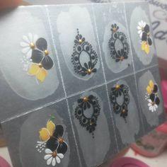 - cintia.nathara_adesivos Nail Art, Nails, Inspiration, Nail Stickers, White Nail Beds, Nail Jewels, Art Nails, Silver Nails, Tutorial Nails