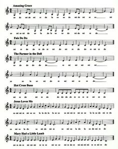 Examples of familiar Pentatonic Songs