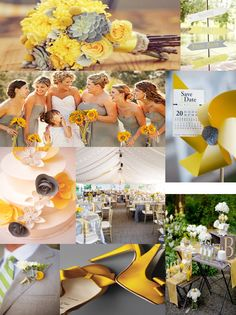 Inspiration Board: Yellow & Grey