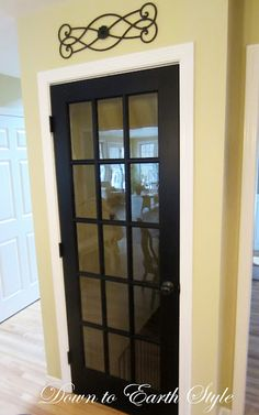 Inside door to the basement idea, love this door!