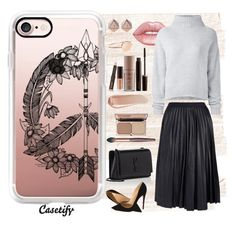 """PEACE in my Soul 👼🏼"" by casetify ❤ liked on Polyvore featuring Lime Crime, Le Kasha, Yves Saint Laurent, Laura Mercier, Christian Louboutin, Theory, NARS Cosmetics, Casetify and FOSSIL"