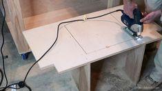 Table Saws Table Saw Workbench 27 - Table Saw Workbench, Workbench Plans Diy, Building A Workbench, Mobile Workbench, Building Plans, Desk Plans, Best Woodworking Tools, Woodworking Joints, Woodworking Workshop