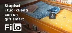 Filo come regalo aziendale innovativo Filo as a smart corporate gift sales@filotrack.com