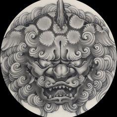 Lion Dragon, Fu Dog, Irezumi, I Tattoo, Oriental, Unicorn, Carving, Japanese, Leather