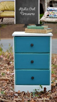 Tranquil - Velvet Finishes Turquoise Painted Furniture, Distressed Furniture Painting, Shabby Chic Furniture, Cool Furniture, Shades Of Teal, Furniture Inspiration, Tiffany Blue, Humane Society, Paint Colors