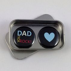 Dad You Rock Magnet Gift Set with Gift Tin Fathers Day Gift Birthday Gift Handmade Keepsake Moment Greeting Card Alternative Unique Gifts For Dad, Tin Gifts, You Rock, Fathers Day Gifts, Magnets, Birthday Gifts, Best Gifts, Dads, Greeting Cards
