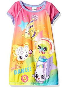 Shopkins Big Girls' Nightgown, Rainbow Dance, Dance away those nighttime jitters with this fun Shopkins nightgown! the bright colors and Shopkins graphics are sure to be a new bedtime favorite! perfect for sleeping and lounging Kids Outfits Girls, Toddler Outfits, Boy Outfits, Shopkins Girls, Girls Sleepwear, Girls Pajamas, Shopkins Outfit, Rapunzel Wedding Dress, Disney Outfits