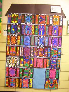 display idea for Ndebele house paintings