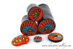 Polymer clay canes by Elena Samsonova