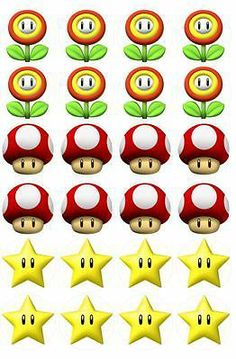 Edible Cake Toppers Super Mario x 24 Icing or Rice Paper Many Others | eBay