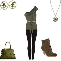 What to wear to the Hunger Games premire, created by bamalulu11.polyvore.com @Lauren Lindell!!!!
