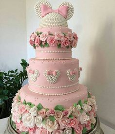 Bolo Minnie Rosa Inspire sua Festa 10