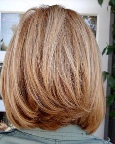 How I'd like the back to look. Med layered bob