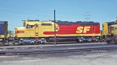 ATSF #5976 (EMD F45u) at Corwith Yard in Chicago, IL in May 1988. Photo by Jerry Jackson.