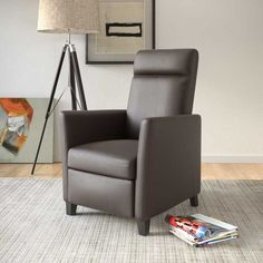 CorLiving Elise Contemporary Bonded Leather Recliner Chair (. See More.  LZY 525 R