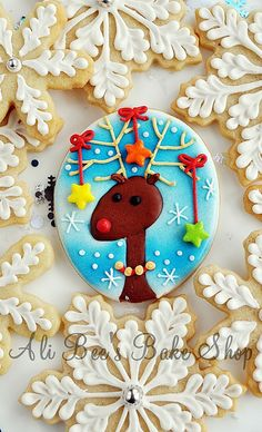 Rudolph all spruced up cookies