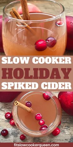Looking for a holiday beverage with an extra kick? This slow cooker holiday spiked cider is easy to make and sure to be the party favorite. Cozy up with this spiked cider recipe. | holiday drinks | holiday cocktails #spikedcider #cider #holidaydrinks #beverages