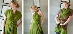 Such a great idea for how to wear an infinity dress. Especially love the casual look.