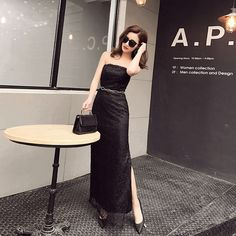 Real Photo In Stock Black Lace Beading Crystal Summer Dress Celebrity Dresses 2017 Abendkleider jennifer Lopez Dresses 0527