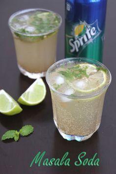 Jaya's recipes: Masala Sprite/Masala Soda/Shikanji Recipe Read More by adhanaraj Juice Drinks, Fruit Drinks, Fruit Juice, Fruit Smoothies, Beverages, Fruit Snacks, Detox Drinks, Cold Drinks, Juicer Recipes