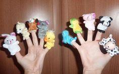 10 piezas del dedo Títeres variados colores y modelos por Kiteland visit;https://www.etsy.com/es/shop/Kiteland?ref=l2-shopheader-name