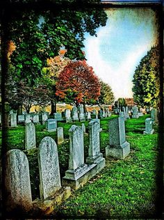 gettysburg, graveyard, fall colors, tombstone, old, history