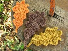 knit oak leaf pattern  photo shows in fall colors; would look great in green!