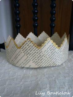 DIY couronne en vieux papier * DIY - Old paper crown