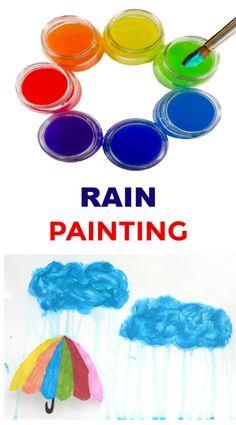 Finger Paint Recipe Baby Art Activities, Painting Activities, Educational Activities For Kids, Sensory Activities, Frozen Painting, Rain Painting, Painting For Kids, How To Make Paint, How To Make Beads