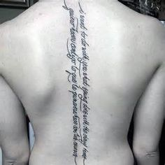 Spine Tattoos Lettering Men 75 spine tattoos for men - masculine ink ...