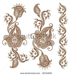Henna Vector Stock Photos, Images, & Pictures   Shutterstock