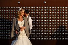 The Harley-Davidson Museum is full of unique wedding photo spots! Photo by Front Room Photography. Click to see more Milwaukee wedding photo spots at the Harley Davidson Museum.
