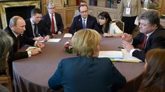 Ukraine peace: Vladimir Putin to discuss with Francois Hollande, Angela Merkel and Petro Poroshenko by phone  Read more: http://www.bellenews.com/2015/02/08/world/europe-news/ukraine-peace-vladimir-putin-discuss-francois-hollande-angela-merkel-petro-poroshenko-phone/#ixzz3R8pdVJbL Follow us: @bellenews on Twitter | bellenewscom on Facebook