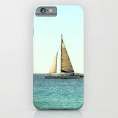 Sail Away with Me - Ocean, Sea, Blue Sky and Summer Sun iPhone Case by staypositivedesign