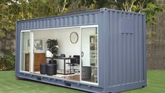 Shipping container garden room, Royal Wolf