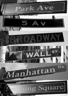 New York Street Signs. $7.50, via Etsy.